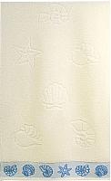 Полотенце Aquarelle Ракушки 50x90 (ваниль) -