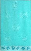 Полотенце Aquarelle Ракушки 70x140 (аква) -