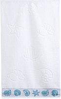 Полотенце Aquarelle Ракушки 70x140 (белый) -