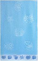 Полотенце Aquarelle Ракушки 70x140 (светло-васильковый) -