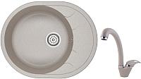Мойка кухонная Granula GR-6301+ смеситель GR-4003 (антик) -
