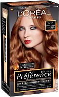 Гель-краска для волос L'Oreal Paris Preference 7.43 Шангрила (интенсивный медный) -