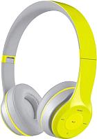 Наушники-гарнитура Freestyle FH0915GG (серый/зеленый) -