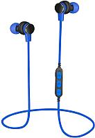 Наушники-гарнитура Platinet PM1061BL + microSD (синий) -