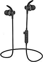 Наушники-гарнитура Platinet Sport PM1060B + microSD (черный) -