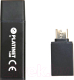 Usb flash накопитель Platinet Pendrive USB 3.0 X-Depo 16GB + Type-C Adapter Black / PMFEC316B -