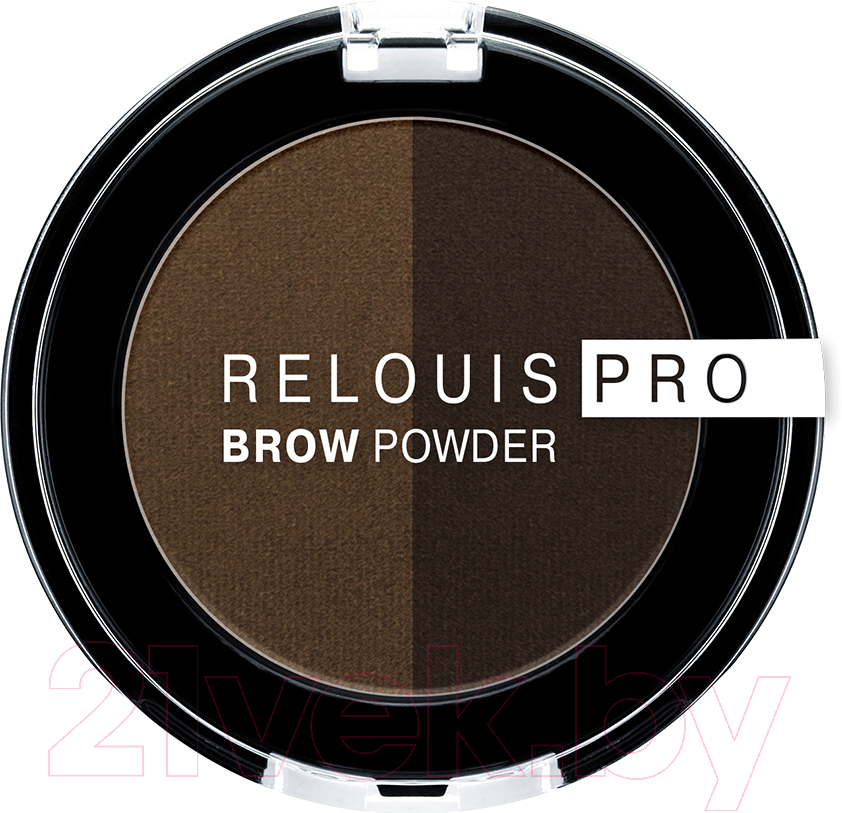 Купить Тени для бровей Relouis, Pro Brow Powder тон 03, Беларусь, брюнет/шатен (коричневый)