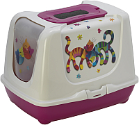 Туалет-домик Moderna Trendy Cat Друзья навсегда / 14C235328 (ярко-розовый) -