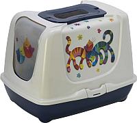 Туалет-домик Moderna Trendy Cat Друзья навсегда / 14C245331 -