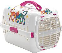 Переноска для животных Moderna Trendy Runner Друзья навсегда / 14T150328 (ярко-розовый) -