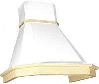 Вытяжка декоративная Elikor Камин Грань 90П-650-П3Л / 840544 (бежевый/дуб белый/патина) -