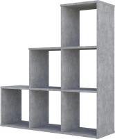 Стеллаж Polini Kids Home Smart Каскадный 6 секций (бетон) -
