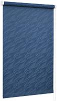 Рулонная штора Delfa Сантайм Жаккард Веда СРШ-01М 890 (48x170, синий) -