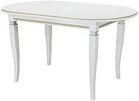 Обеденный стол Castor Шелтон / 160042 (бук/беленый бук с бронзовой патиной) -