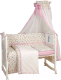 Комплект в кроватку Polini Kids Собачки 7 предметов (120x60, розовый) -