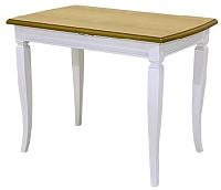 Обеденный стол Castor Шелтон-СМ / 160057 (бук/без тонировки светлый бук/белая эмаль) -