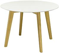 Обеденный стол Castor Крит / 160059 (белаяя эмаль/светлый бук) -