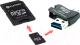 Карта памяти Platinet PMMSD32CR4 32GB + адаптер, кардридер -