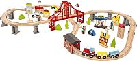 Железная дорога детская Wooden Toys 70 предметов -