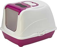 Туалет-лоток Moderna Flip Cat / 14C240328 (ярко-розовый) -