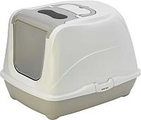 Туалет-лоток Moderna Flip Cat / 14C240330 (светло-серый) -