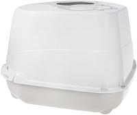 Туалет-лоток Moderna Flip Corner / 14C250330 (светло-серый) -