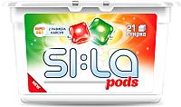 Капсулы для стирки SI:LA Pods Super Set для цветного и белого белья (21шт) -