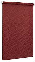 Рулонная штора Delfa Сантайм Жаккард Веда СРШ-01М 899 (115x170, бордовый) -