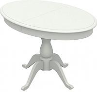 Обеденный стол Аврора Фабрицио-1 Элипс (тон 9/эмаль белая) -