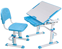 Парта+стул FunDesk Lupin (голубой) -