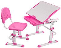 Парта+стул FunDesk Lupin (розовый) -