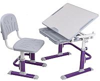 Парта+стул FunDesk Lupin (фиолетовый) -