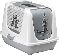 Туалет-домик Moderna Trendy Cat Maasai / 14C245363 (светло-серый) -