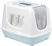 Туалет-домик Moderna Trendy Cat Maasai / 14C235363 (светло-серый) -