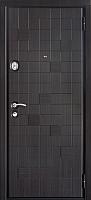 Входная дверь Юркас Staller Метро Распил венге чёрно-серый (86x205, правая) -