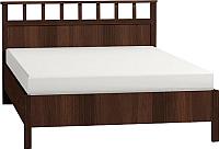 Каркас кровати Глазов Sherlock 48 Люкс 140x200 (орех шоколадный) -