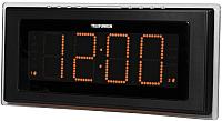 Радиочасы Telefunken TF-1541 (черный/оранжевый) -