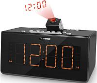 Радиочасы Telefunken TF-1542 (черный/оранжевый) -