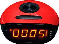 Радиочасы Telefunken TF-1574 (красный/янтарный) -