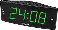 Радиочасы Telefunken TF-1587 (черный/зеленый) -