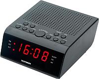 Радиочасы Telefunken TF-1590 (черный/красный) -