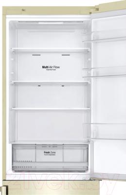 Холодильник с морозильником LG GA-B459BEGL