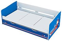 Односпальная кровать Polini Kids Fun 4200 Маша и Медведь (синий) -