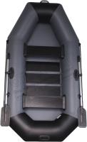 Гребная лодка Vivax К250 c полом-книгой (без киля, серый/черный) -