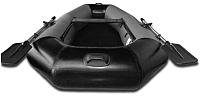Надувная лодка Vivax К220 НДНД (без киля, серый/черный) -