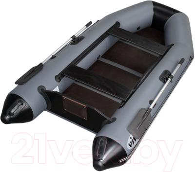 Моторная лодка Vivax Т280 с полом-книгой (с килем, серый/черный)
