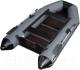 Моторная лодка Vivax Т280 с полом-книгой (с килем, серый/черный) -