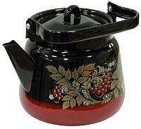 Чайник СтальЭмаль С2716.8 (красный/черный) -