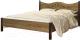 Двуспальная кровать Сакура Джулия №16 (дуб табачный) -