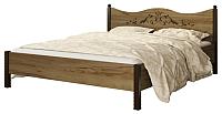 Полуторная кровать Сакура Джулия №14 140 (дуб табачный) -